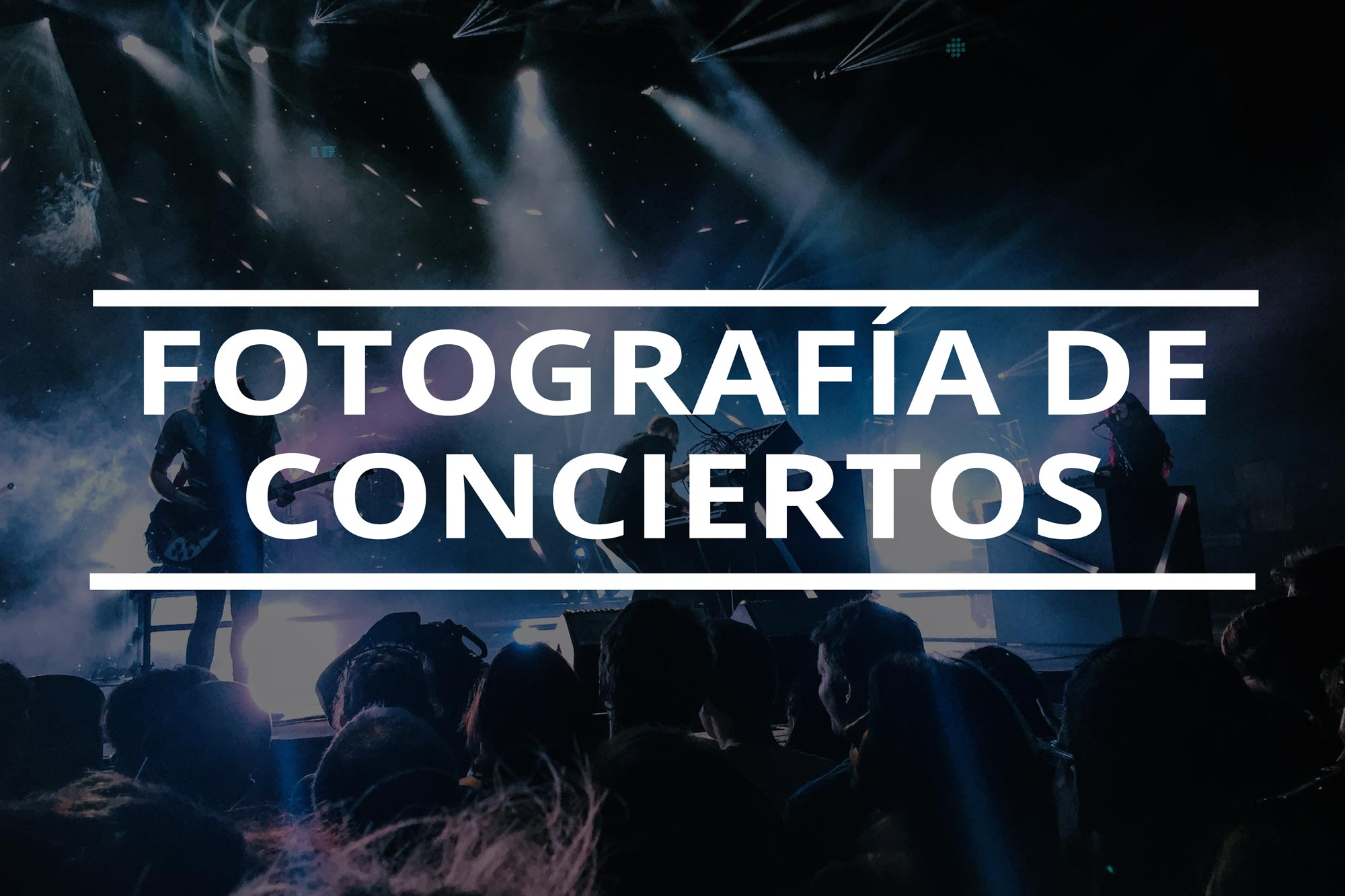 Como empezar en la fotografia de conciertos