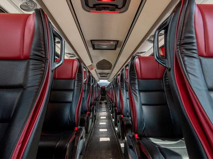 Sesión para autobuses de lujo